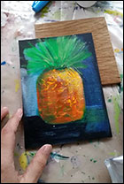 Acrylic Pineapple Painting