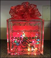 Holiday Glass Block
