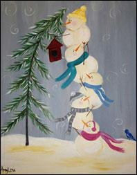 Wine and Design - Snowmen