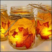 Mosaic Leaf Luminaries